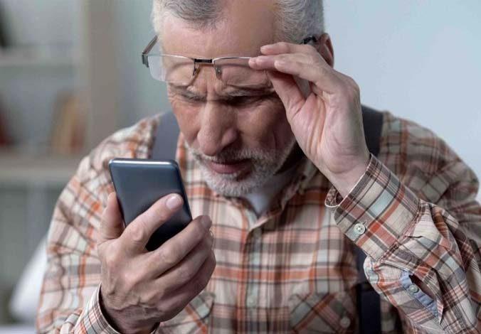 problemas de visión y dolor de espalda
